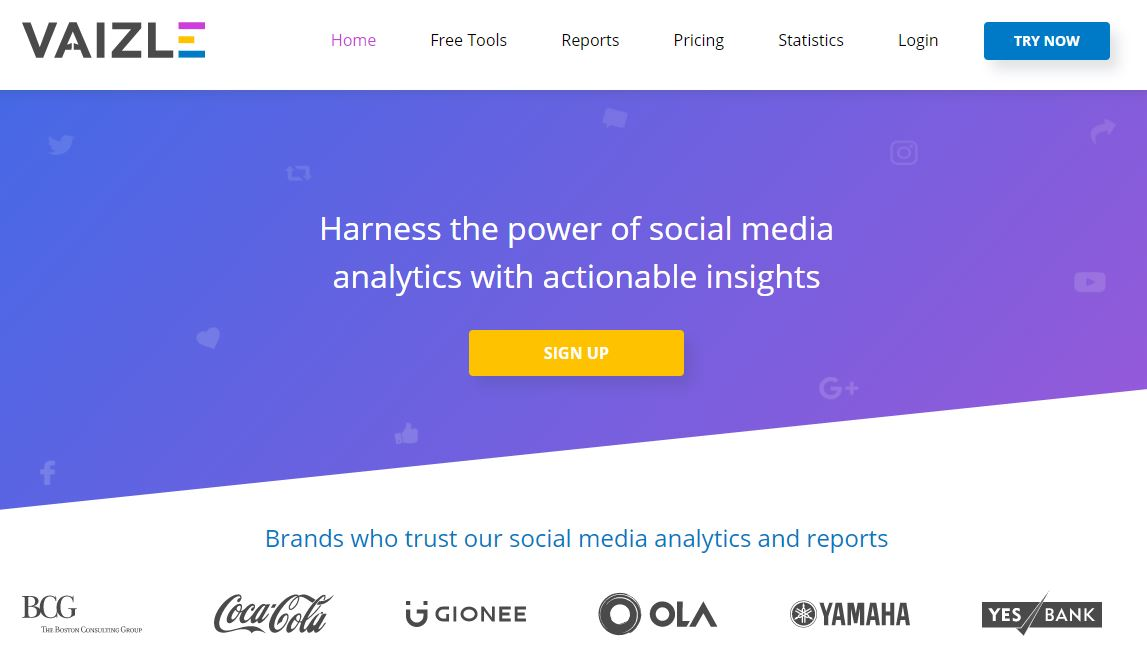 vaizle social media benchmarking tools