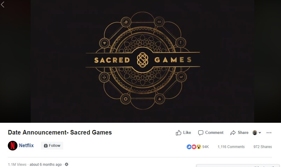 date announcement sacred games