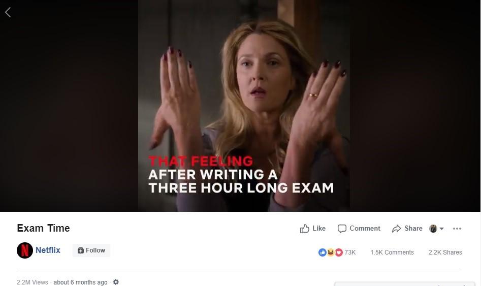exam time netflix