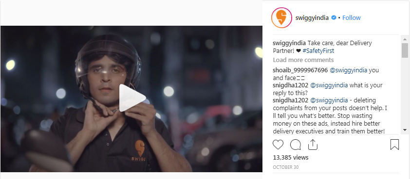 swiggy drive safe video