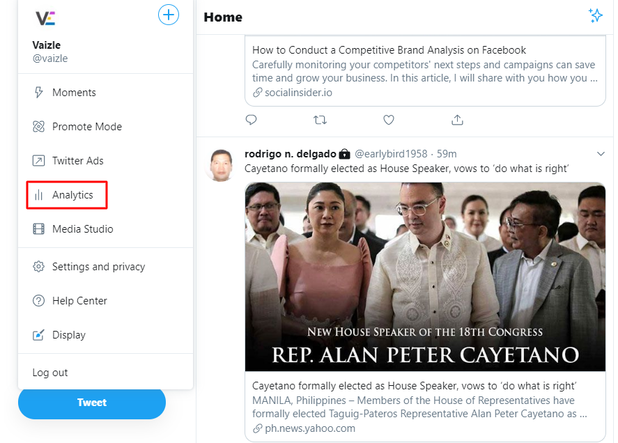 accessing twitter analytics guide