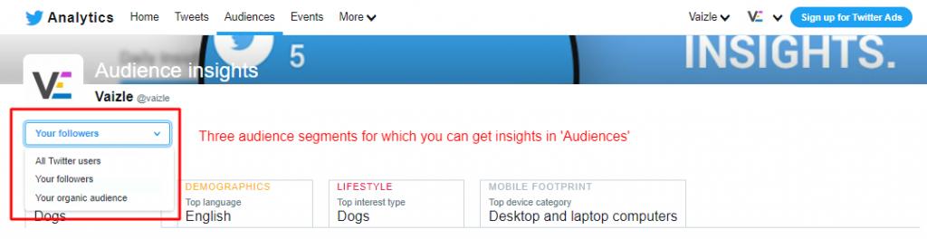 twitter analytics audience tab