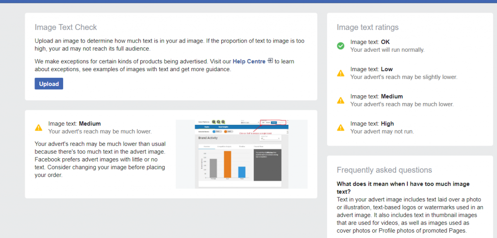 Free Facebook Ads tools for text overlay checking