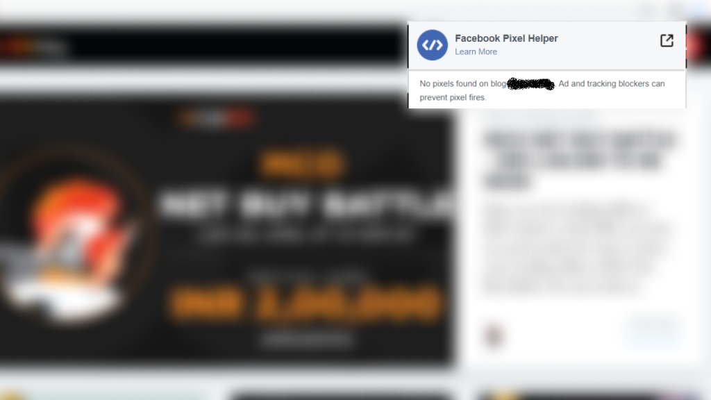 blog without facebook pixel